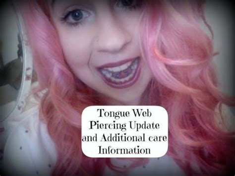 tongue web piercing update  additional care information