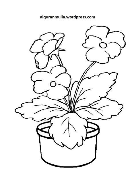 gambar mewarnai bunga kreasi warna