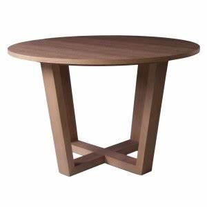 Table Pied Croisé : table ronde de salle manger avec rallonge brin d 39 ouest ~ Teatrodelosmanantiales.com Idées de Décoration