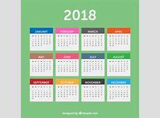 Simple 2018 Calendar Vector Free Download