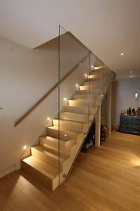 basement stairs ideas staircase contemporary with recessed ...