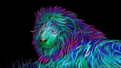 wallpapers  abstract  art lion
