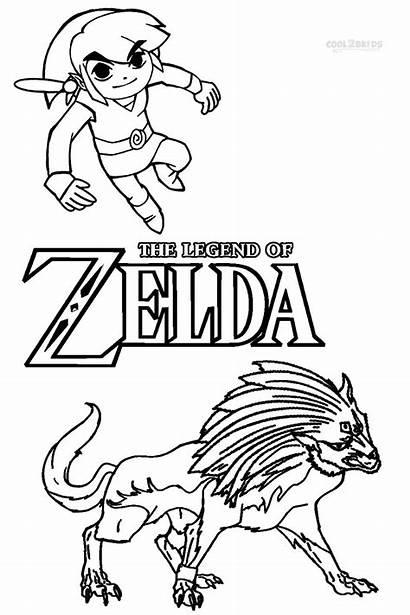 Zelda Coloring Pages Link Toon Printable