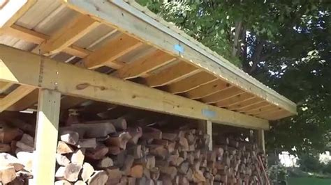 firewood shed  youtube