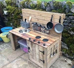 Outdoor Kitchen Selber Bauen : diy gartenk che f r kinder sommerkunst pinterest ~ Lizthompson.info Haus und Dekorationen