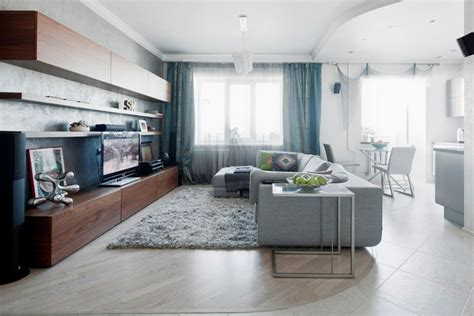 modern small apartment airy modern apartment in light shades digsdigs