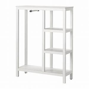 Ikea Kleiderschrank Weiss : hemnes kleiderschrank offen wei las 99x37x130 cm ikea ~ Orissabook.com Haus und Dekorationen