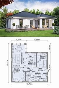 Haus Bauen Ideen Grundriss : bungalow haus modern ebenerdig mit walmdach architektur ~ Orissabook.com Haus und Dekorationen