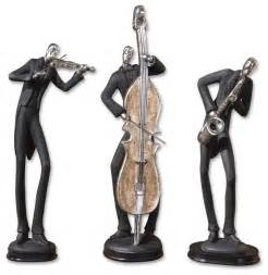 musicians decorative figurines set of 3 contemporary decorative objects and figurines by