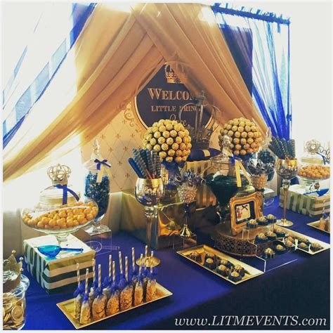 royal themed baby shower ideas royal prince royal prince baby shower candy buffet sweets table royal candy buffet little