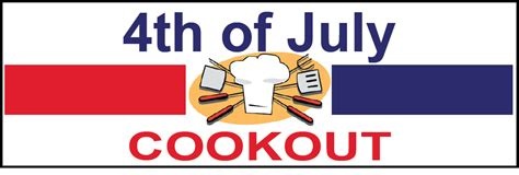 fourth of july cookout banners free shipping signs banners design online