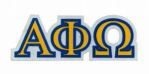 alpha phi omega reflective vinyl decal clipart best With alpha phi omega letters