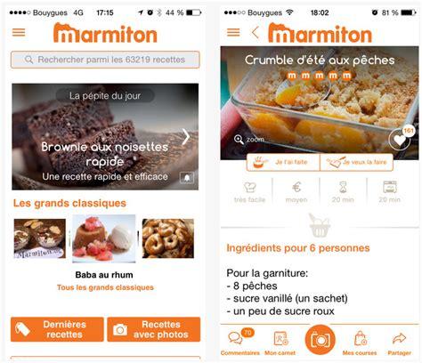 marmiton fr recettes cuisine dossier applications iphone et l 39 de la cuisine