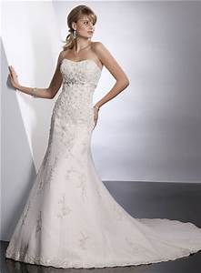 Modern trumpet mermaid sweetheart empire chapel train for Wedding dress sashes with crystals