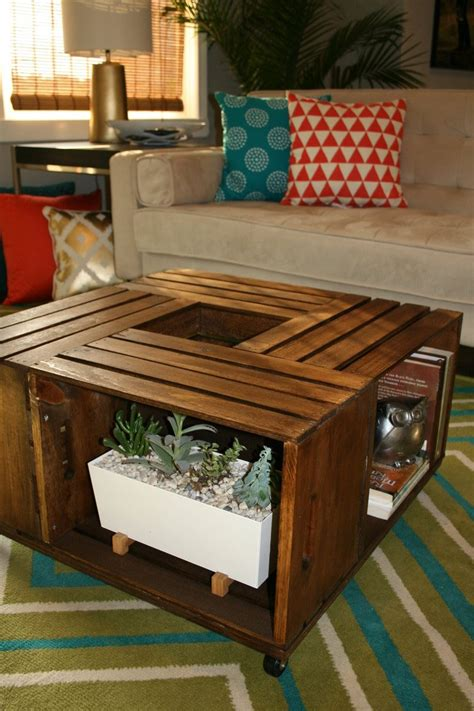 diy wooden wine crate coffee table leawood lifestyle