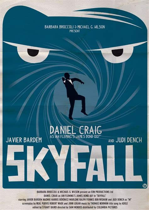 Vintage-Style James Bond Posters by Alain Bossuyt