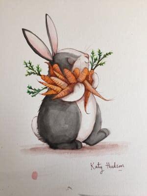 katy hudson draw  rabbit   win  original picture childrens books