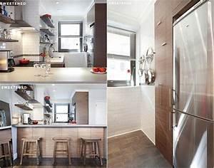 renovation cuisine et salle de bains photos avant apres With carrelage adhesif salle de bain avec lumiere led esthetique