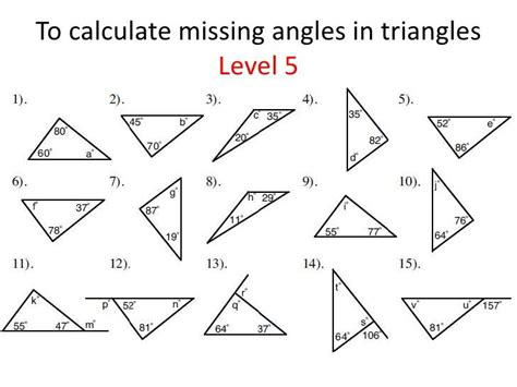 find the angle worksheet triangles identifying and finding missing angles life hacks pinterest worksheets math