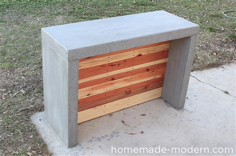 homemade modern ep concrete bar
