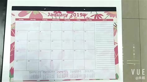 custom large monthly desk pad calendar printing office