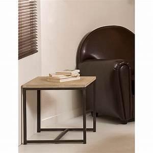 Meuble Bout De Canapé : bout de canap carr paulownia meubles macabane meubles et objets de d coration ~ Preciouscoupons.com Idées de Décoration