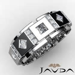 mens wedding bands with diamonds princess ring mens solid box eternity unique wedding band platinum 3ct ebay