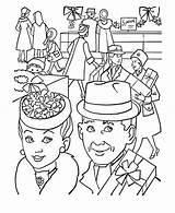 Coloring Parents Gran Present Buying Netart Grandparents sketch template