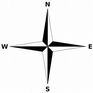 File:Simple compass rose.svg