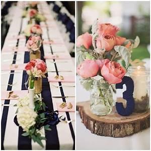 bleu marine et rose des couleurs punchy pour mon mariage With association de couleurs avec le bleu 9 decoration de table ete table fete mariage et