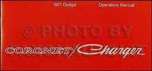 1971 Coronet Charger Super Bee Wiring Diagram Manual Reprint