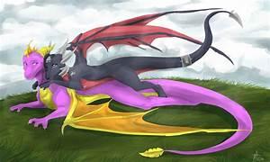 Spyro and Cynder by Etyhgmh66jhg1lpkjmn on DeviantArt