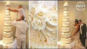 CAKE DECORATING TECHNIQUES - HOW TO DECORATE GIANT WEDDING