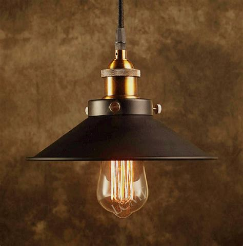 retro shop lights modern vintage industrial metal black bronze loft bar