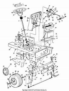 Mtd 144w834p401  1994  Parts Diagram For Steering Assembly
