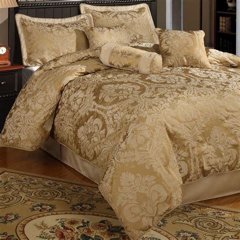 halifax gold 7 piece luxurious look comforter set king