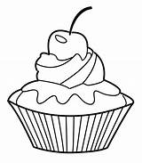 Coloring Cupcake Pages Muffin Cute Cupcakes Cat Drawing šablony Cake Printable Colouring Cup Birthday Ice Cream Getdrawings Geography Cakes Google sketch template