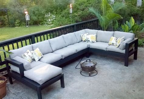 armless  outdoor sofa sectional piece ana white