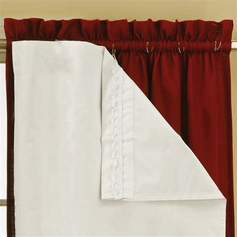 Blackout Drape Liner - eclipse thermalayer thermaliner blackout curtain liner