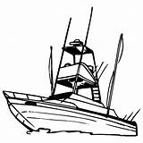 Boat Coloring Fishing Boats Sport Recreational Drawing Clip Speed Row Yacht Colouring Template Clipart Getcolorings Bass Printable Getdrawings Templates Clipartmag sketch template