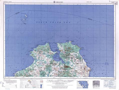 takjub indonesia peta topografi pulau bangka utara skala