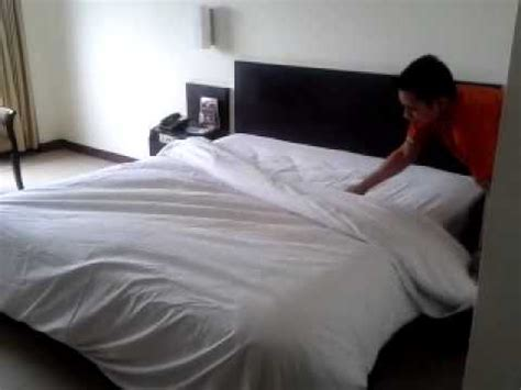 the bed housekeeping quot how to up the bed quot