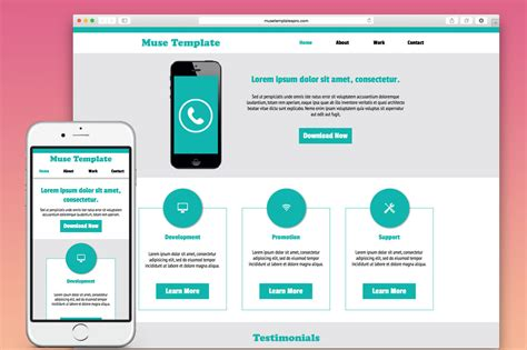 adobe muse mobile templates developer adobe muse template website templates on creative market