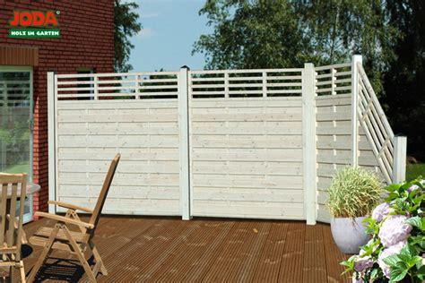 Sichtschutz Terrasse Holz Weiß