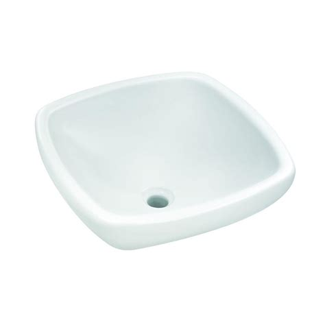 home depot white vessel sink glacier bay square vitreous china vessel sink in white 13