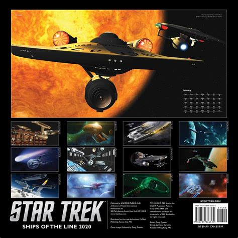 trek collective star trek calendar revealed