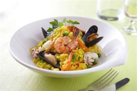 cuisine gastronomique recette de paëlla aux fruits de mer facile et rapide