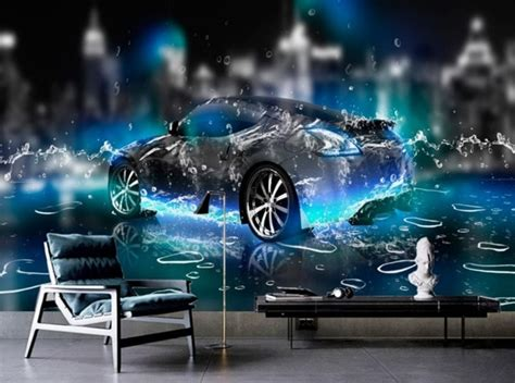 Cool Car Wallpapers For Desktop 3d Nature Pictures by Hd Wallpaper For Bedroom Walls Water Sports Car 3d Wall
