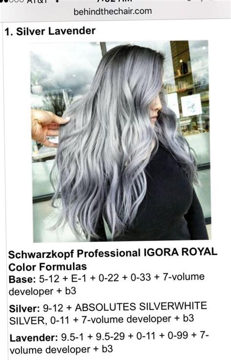 bescene   chair hair color formulas igora