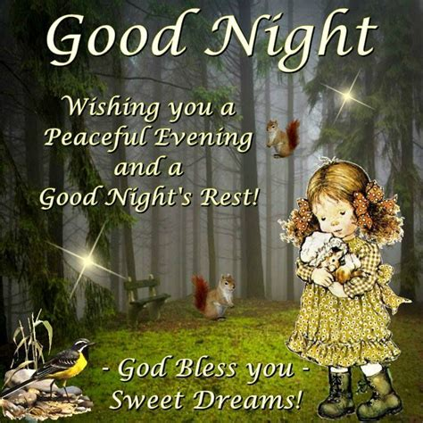 goodnight wishing   peaceful evening   goodnight